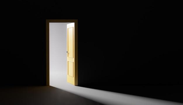 Otwarte drzwi z wchodzącym światłem