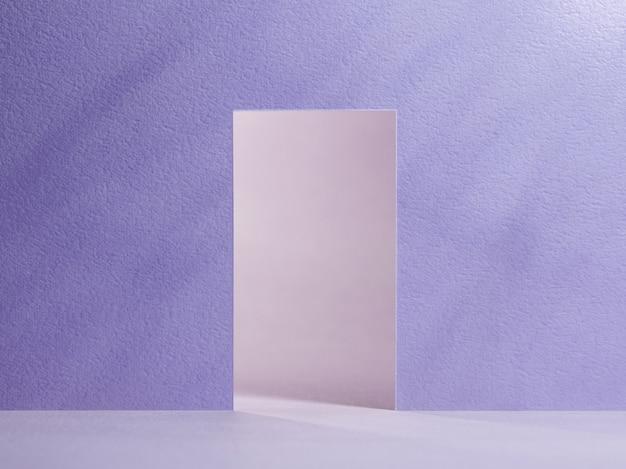 Otwórz drzwi fioletowo-różową ścianę