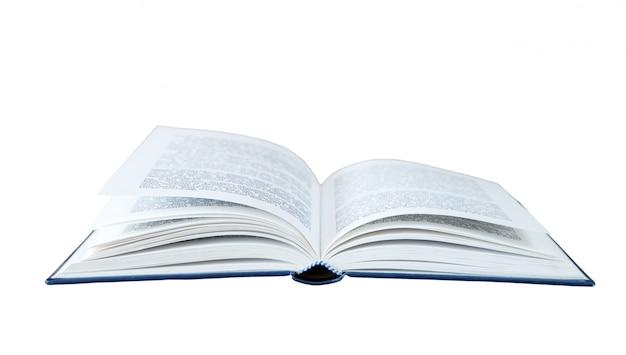 Otwórz książkę na białym tle
