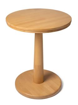 Owalny drewniany klasyczny stół odizolowywający na bielu