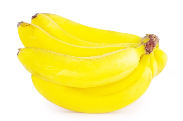 Owoce bananowca na białym tle