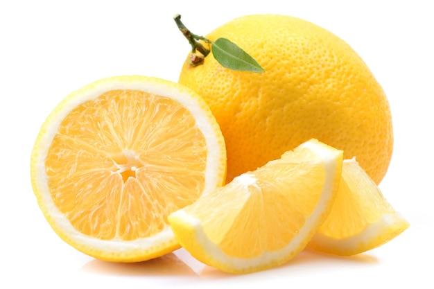 Owoce cytryny pokrojone na pół zbliżenie