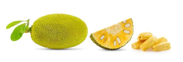 Owoce jack na białym tle na białej powierzchni