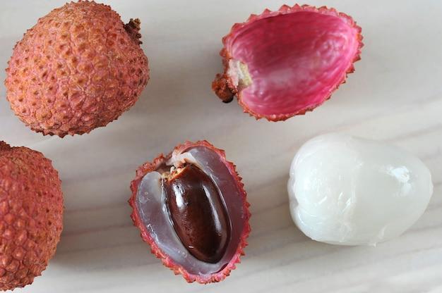 Owoce liczi smaczne i zdrowe