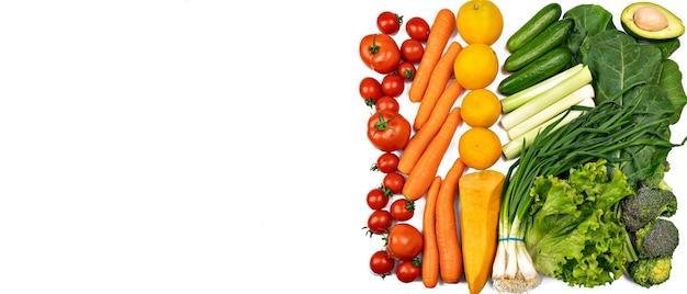Owoce świeże warzywa z awokado