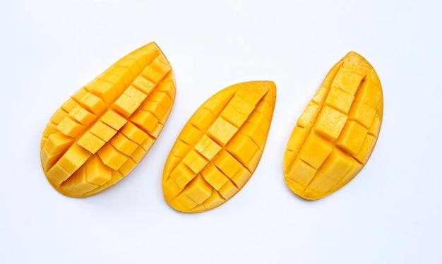 Owoce tropikalne, mango. widok z góry