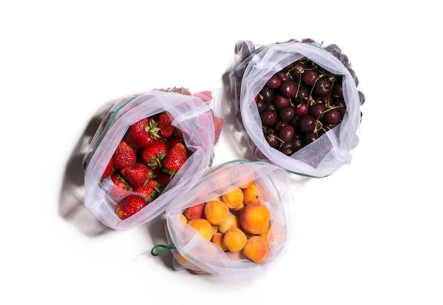 Owoce w eko torebkach