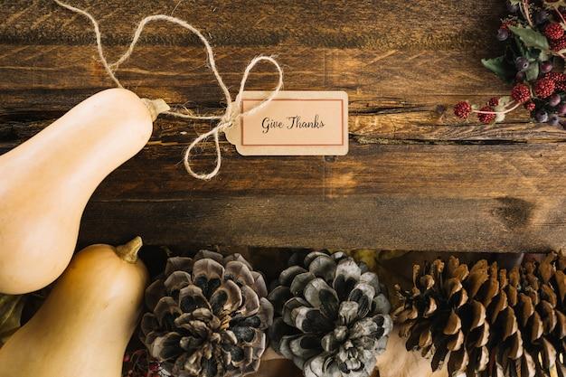 Ozdoba tagów dziękczynienia