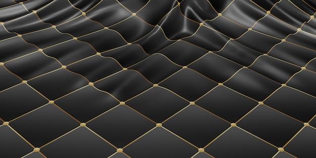 Ozdobna flaga fałduje fale tekstury tkaniny wzór dynamiczny pasek krzywej 3d ilustracja
