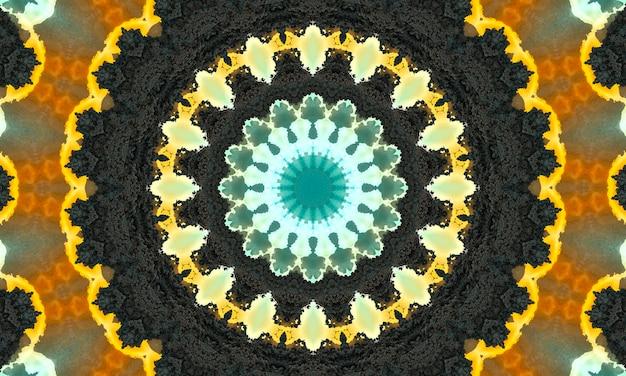 Ozdobne dekoracyjne kalejdoskop ruch geometryczne koło, streszczenie kwiatowy kalejdoskop, geometryczny wzór bezszwowe etniczne, skomplikowane tło ludowe.