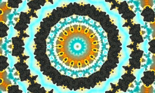 Ozdobne kalejdoskop ozdobny ruch geometryczne koło, abstrakcyjny kalejdoskop kwiatowy, geometryczny wzór bezszwowe etniczne, skomplikowane tło ludowe