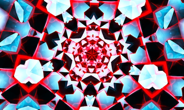 Ozdobny okrągły wzór koronki. kalejdoskop koralowy krąg.