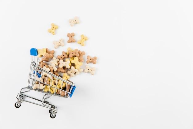 Ozdobny wózek z smakołykami dla psów