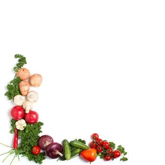 Ozdobny wzór świeżych warzyw