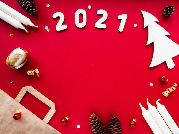 Ozdoby świąteczne craft, torba papierowa, numery 2021