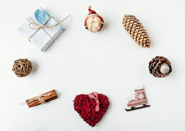 Ozdoby świąteczne i przedmioty do makiety projekt szablonu.
