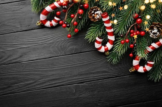 Ozdoby świąteczne z miejsca na kopię cukierków