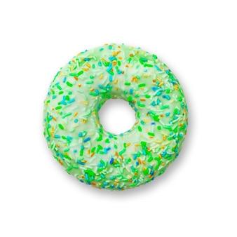 Pączek koloru zielonego na białym tle
