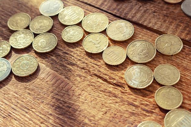 Paczka mosiężnych monet z miejsca na kopię