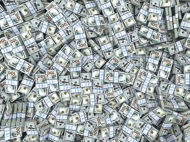 Paczki dolarów w tle