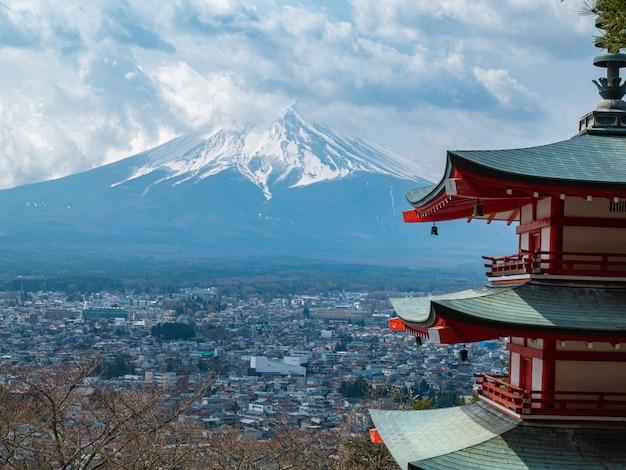 Pagoda chureito w sanktuarium askura sengen, punkt orientacyjny japonii?