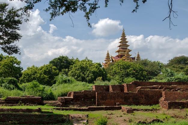 Pagodowy punkt zwrotny w bagan, myanmar