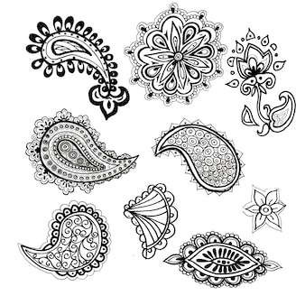Paisley wzór ludowy patern graficzny ilustracja ręcznie rysowane