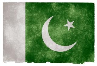 Pakistan grunge flag dumny