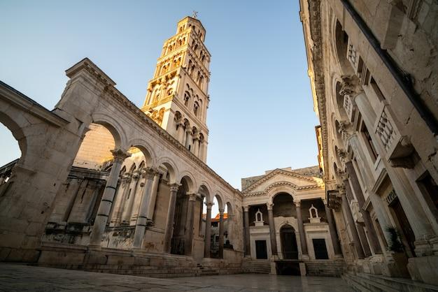 Pałac dioklecjana w splicie, chorwacja.
