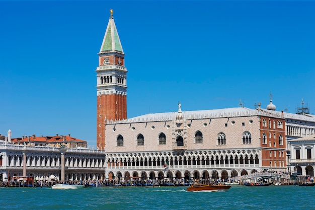 Pałac dożów i campanile na piazza di san marco, wenecja, włochy