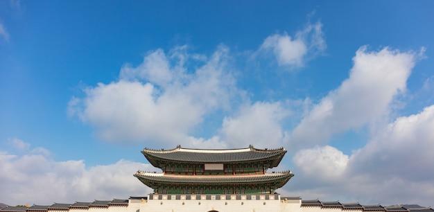 Pałac gyeongbokgung w seulu, w korei południowej
