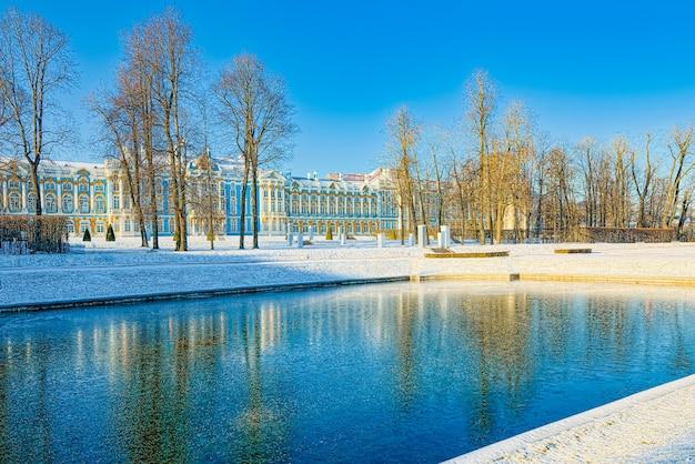 Pałac jekateryniński, przedmieście carskie sioło (puszkin) w sankt petersburgu. rosja.