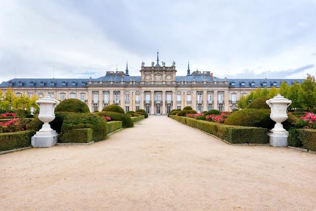 Pałac królewski la granja de san ildefonso, segovia, hiszpania.