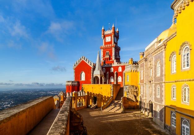 Pałac narodowy pena sintra portugalia podróże po europie wakacje w portugalii