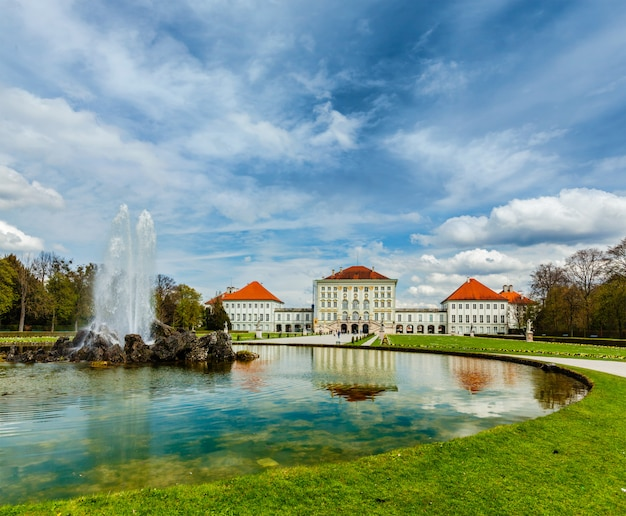 Pałac nymphenburg. monachium, niemcy