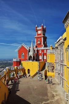 Pałac pena w mieście sintra, portugalia