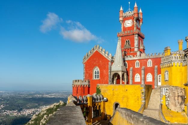 Pałac pena w sintrze, portugalia - światowe dziedzictwo