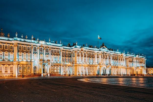 Pałac zimowy i ermitaż. sankt petersburg. rosja.
