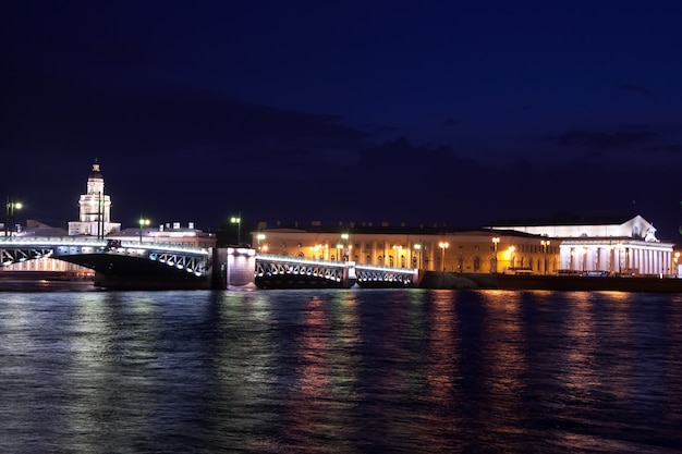 Pałacowy most w nocy
