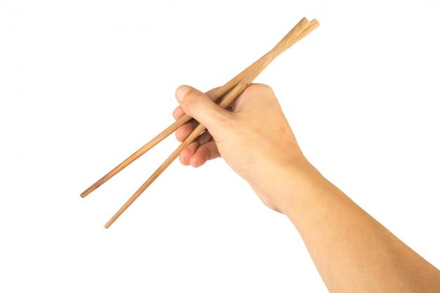 Pałeczki ręczne na białym tle