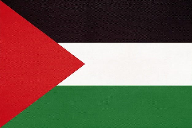 Palestyny flagi narodowej tkaniny tło włókienniczych, symbol świata azjatyckiego kraju
