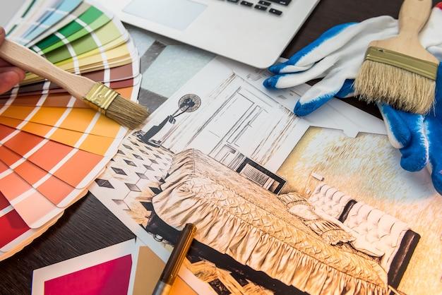 Paleta kolorów do renowacji wnętrz projektowych