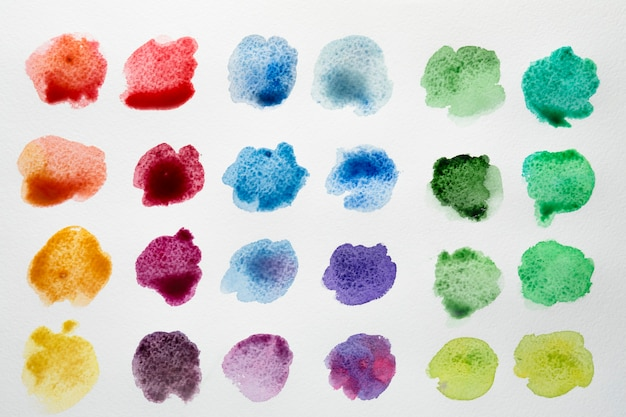 Paleta kolorów plam akwarelowych