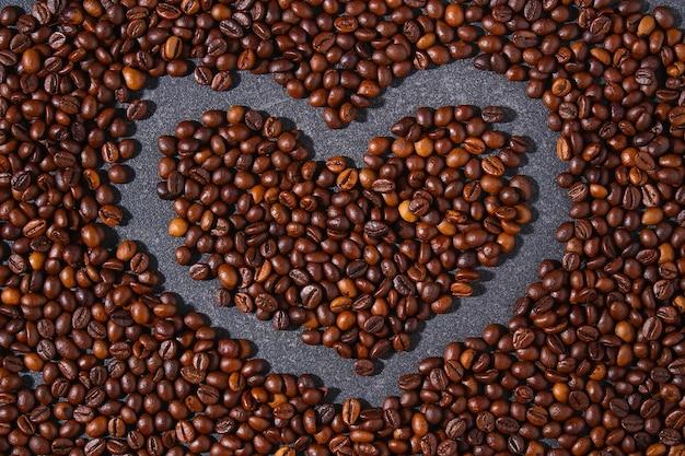 Palone brązowe ziarna kawy