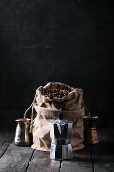 Palone ziarna kawy