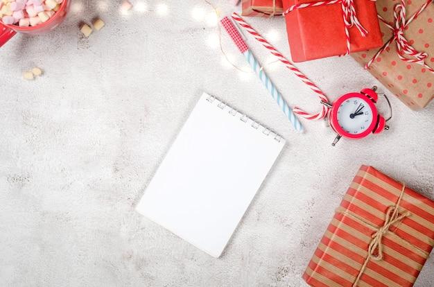 Pamiętnik do zapisywania planów noworocznych planowanie celów noworocznych w zeszycie