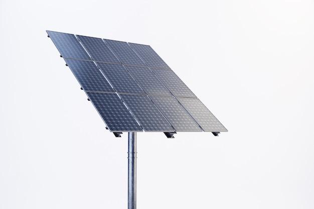Panel słoneczny z białym