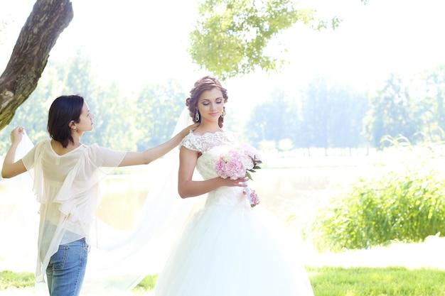 Panna młoda w dniu ślubu