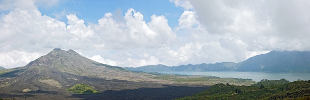 Panorama batur wulkanu krajobraz