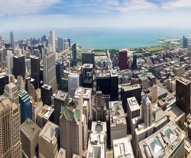 Panorama centrum chicago, illinois usa